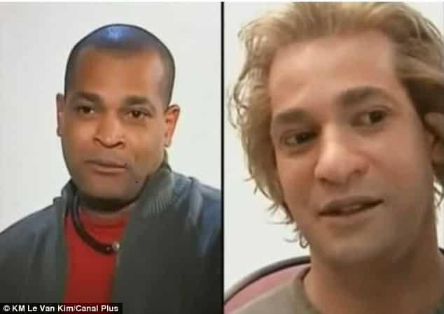 Maquilladoras transforman a una familia negra en una familia blanca