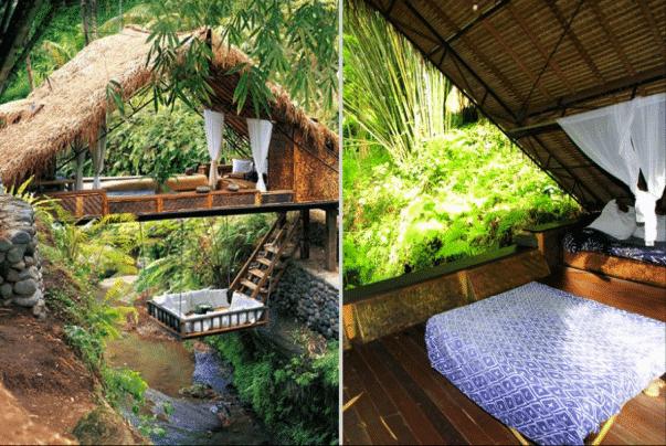 No puede haber ningún lugar en el mundo que te unirá tanto con la naturaleza como el Retiro Panchoran de  Bali.  Cada habitación ha sido diseñada de tal manera que se hace difícil diferenciar el interior del exterior.  Todo está hecho de materiales sostenibles y reciclables, así que si estabas buscando una residencia totalmente natural y ecológica, este es el destino correcto.