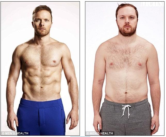 David Morton redujo a la mitad su grasa corporal tras unas intensas sesiones de cardio y pesas