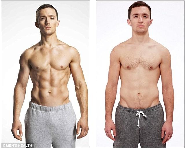 Jamie Millar, 30 años, convirtió siete kilos de grasa en siete kilos de músculo.