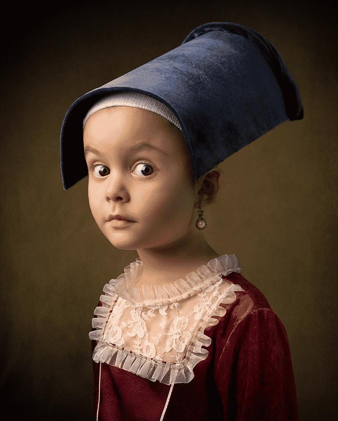 Una niña de 5 años comienza su carrera como modelo