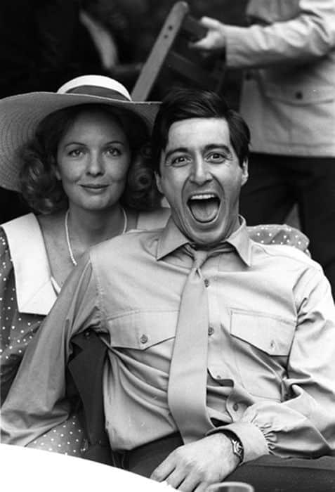 Diane Keaton y Al Pacino perder el tiempo en el set de El Padrino
