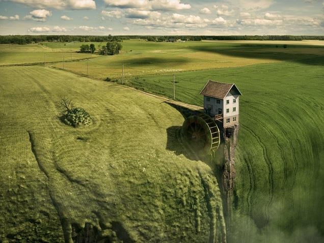 Así se crean los hermosos mundos surrealistas de Erik Johansson