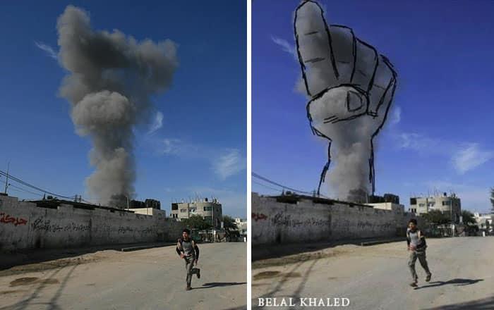 gaza-israel-rocket-strike-smoke-art-23