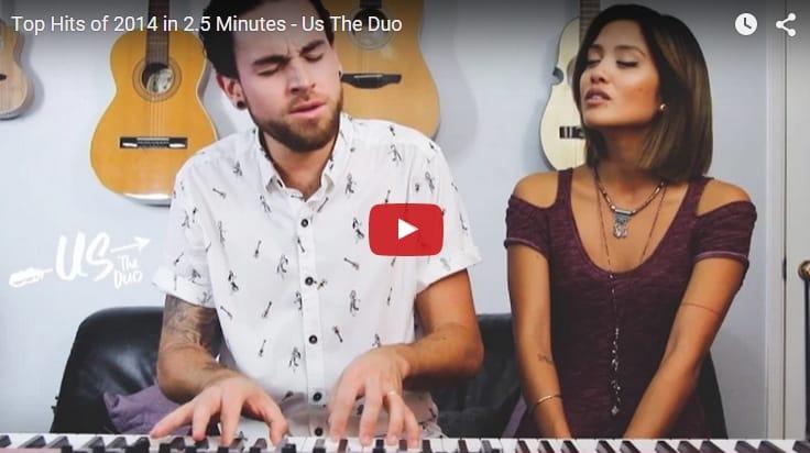 ¡Vaya artistazos! Una joven pareja canta los éxitos del 2014 en sólo 2 minutos