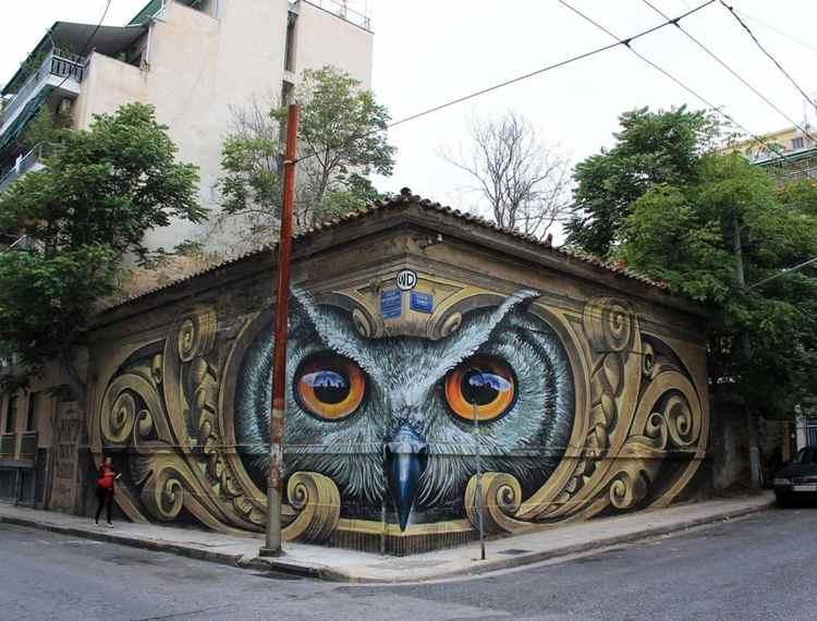 mural en atenas